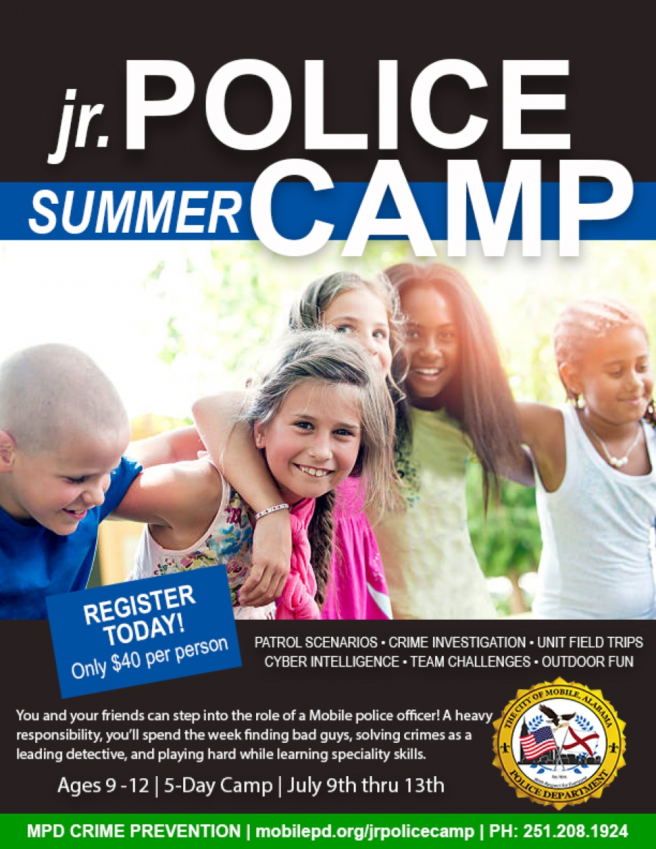 MPD Jr. Police Summer Camp Flyer