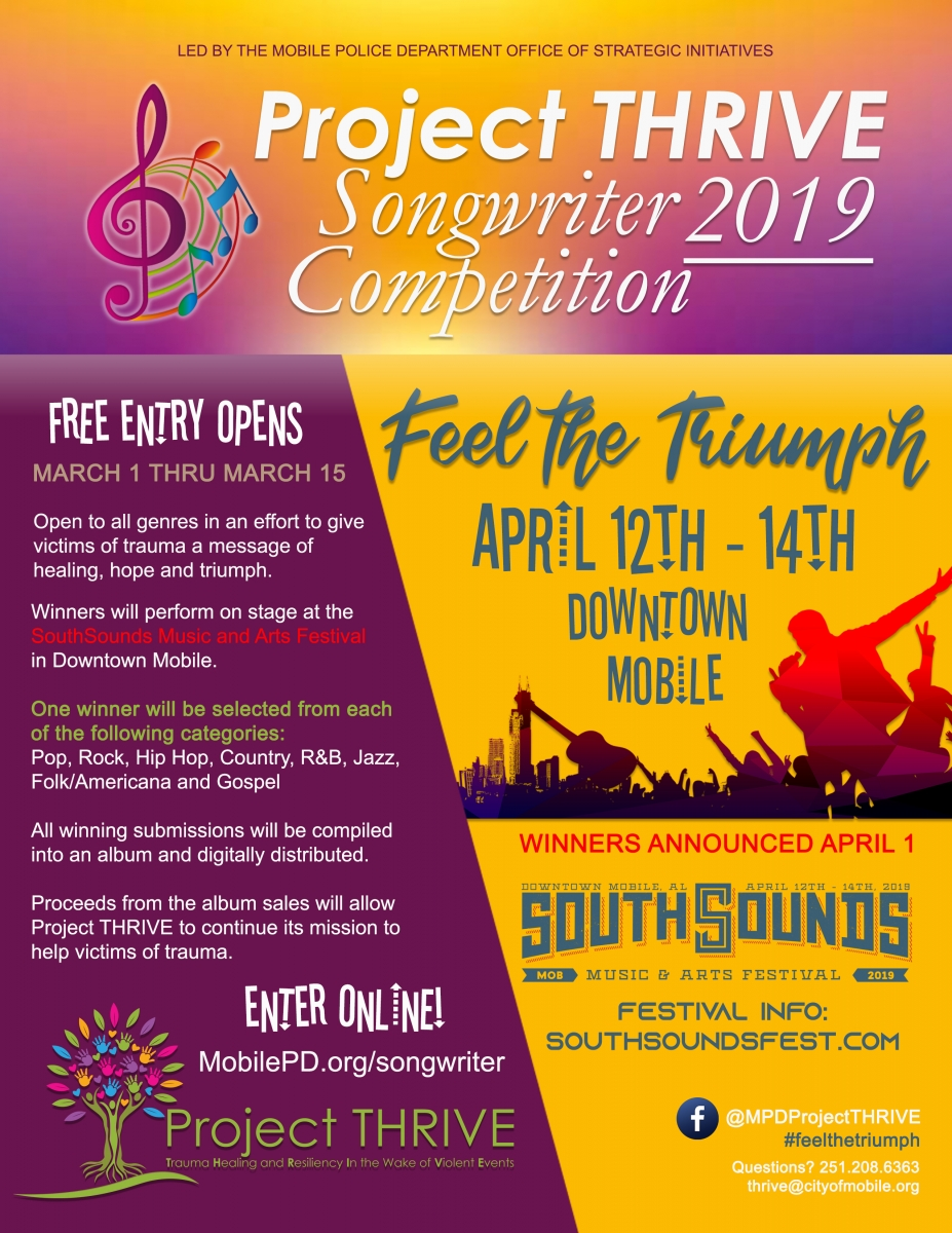 Project THRIVE Songwriter Competition