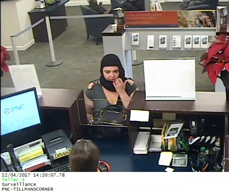 MPD Searching for Bank Robbery Suspect
