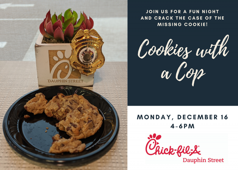 Chick-fil-A hosts Cookies with a Cop