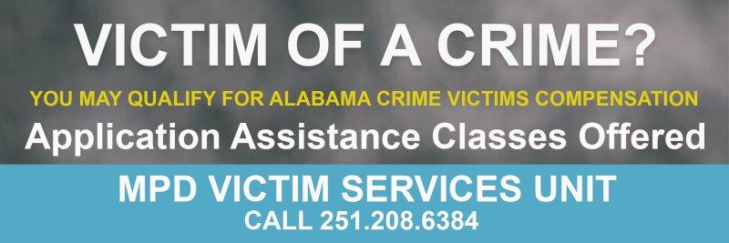 Application Assistance for Alabama Crime Victims' Compensation